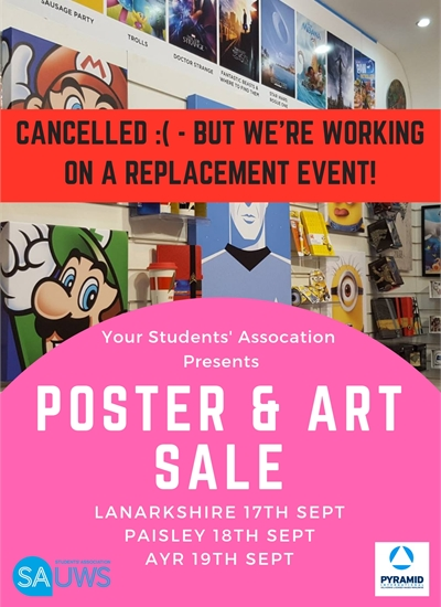 CANCELLED :( Poster & Art Sale (Lanarkshire)
