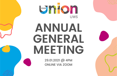 Annual General Meeting 29 January 2021 at 4pm, online via Zoom