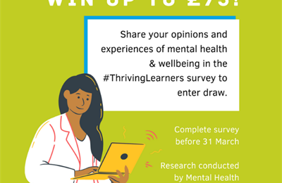 Win up to £75! Share your opinions and experiences of mental health & wellbeing in the #Thriving